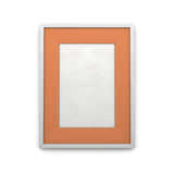 White frame with orange insert Royalty Free Stock Images