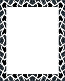 White Frame with Oriental Decorated Borders Stock Image