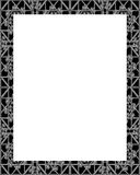 White Frame with Ornate Decorated Borders Stock Photo