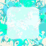 White frame over artistic paint splashes Royalty Free Stock Photos