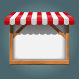White frame with red awning Royalty Free Stock Photography