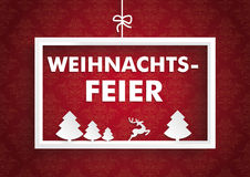 White Frame Red Ornaments Weihnachtsfeier Royalty Free Stock Images