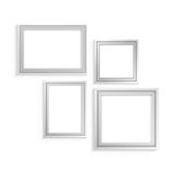 White frame set for Royalty Free Stock Photos