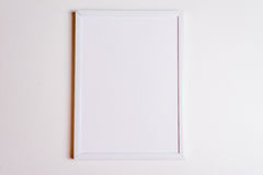 White frame with shadows view top. stock images
