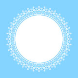 White frame of snowflakes Stock Image