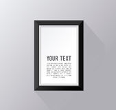 White frame with text isolated on wall Stock Image