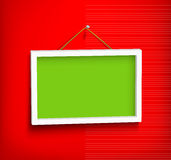 White frame on the wall Royalty Free Stock Images