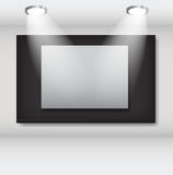 White frames in art gallery ector illustration Stock Photography