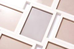 White frames mockup. White frames on white background. Mock up royalty free stock photos