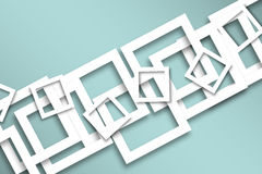 White frames background. Vector background with white frames and shadows Royalty Free Stock Image