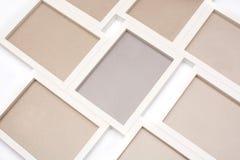 White frames mockup. White frames isolated on white background. Mock up stock photos
