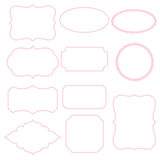 White frames with pink stroke. Vector Stock Images