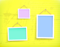 White frames on the wall Royalty Free Stock Photos