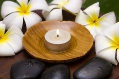 White frangipani. With spa concept Stock Photos
