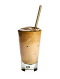 White Frappe. Coffee isolated on white background royalty free stock photography