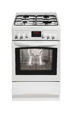 White free standing cooker Royalty Free Stock Images