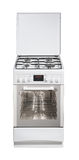 White free standing cooker Stock Images