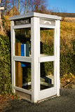 White french phone booth Stock Images