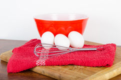 White fresh farm eggs Stock Images