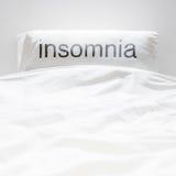 White fresh linen nobody, insomnia sign Stock Images