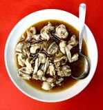 White frog meat steamed in Chinese style Stock Photos