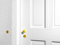 White front door Royalty Free Stock Image