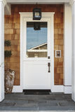 White front door to a luxury home Stock Photos