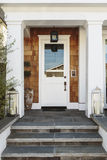 White front door to a luxury home Royalty Free Stock Photography