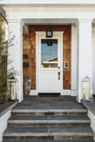 White front door to a luxury home Stock Images