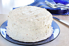 White Frosted Cake Stock Photo