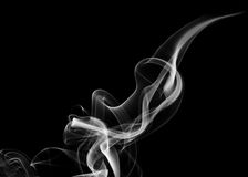 White fume abstract shape Stock Photography
