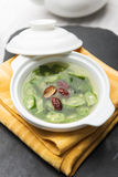 White fungus soup dates okra Royalty Free Stock Photo