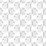 White funny fish seamless pattern Royalty Free Stock Photos
