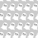 White funny ghost seamless pattern. Vector backgrounds for Hallo Royalty Free Stock Photography