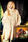 White fur coat Stock Photo