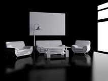 White furniture on a black background Stock Photography
