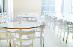 White furniture in bright room Royalty Free Stock Photography