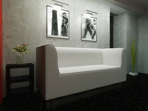 White furniture in modern interior Royalty Free Stock Photos