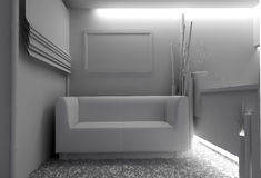 White furniture in modern interior Stock Images