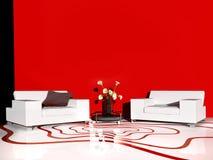 White furniture in modern interior Royalty Free Stock Image