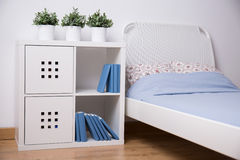 White furniture in teen bedroom Stock Photos