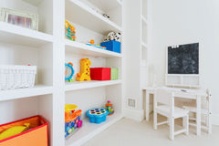White furnitures in child room Royalty Free Stock Photography