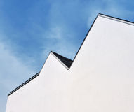 White Gable In Front Of Blue Sky Royalty Free Stock Photos