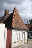 White Gable. On old house in Middelfart, Denmark stock images