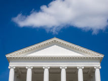 White Gable on State House in Virginia Stock Photos