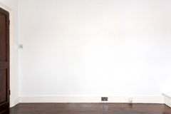 White Gallery Wall. An empty white gallery wall Stock Photography