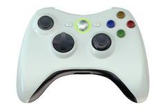 White game controller Stock Photo
