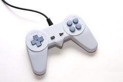 White game controller isolated on the background Stock Image