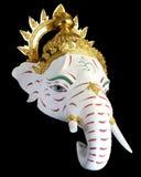 White Ganesha Thailand Khon mask head Stock Image