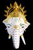 White Ganesha Thailand Khon mask head Royalty Free Stock Photography